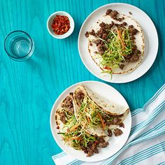 Korean Tacos with Asian Slaw Recipe - missing the onion cilantro lime juice topping