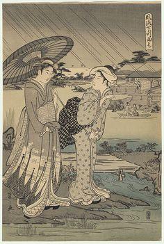 praying for rain / eishi / 1756 - 1829