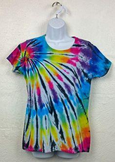 Tie Dye T-Shirt, Women's tie dye, Women's t-shirt, XXLarge Skinny Fit, Rainbow t-shirt, Alternative clothing, Women's clothing, UK 16-18