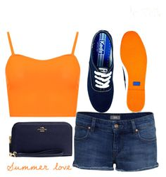 """""""summer :)"""" by j-n-a ❤ liked on Polyvore featuring WearAll, IDA, Keds and Coach"""