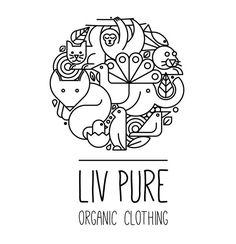 Liv Pure Organic Clothing Logo Design