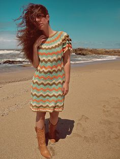 crochet dress idea, love