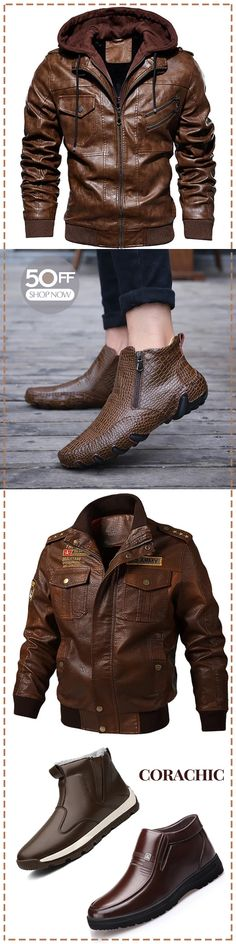 Men's jacket & boot on sale - Mode Männer Stylish Men, Men Casual, Men's Coats And Jackets, Boots For Sale, Mens Clothing Styles, Casual Outfits, Casual Shoes, Mens Fashion, Free Shipping