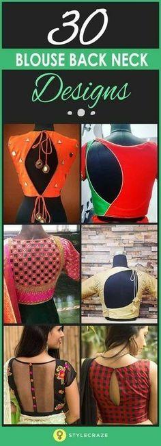 30 innovative Indian Choli Blouse Design's, for Saree, Lehenga ~ Ghagra. Indian Fashion, Indian Saree Blouse Fashion via Blouse Back Neck Designs, Stylish Blouse Design, Sari Blouse Designs, Saree Blouse Patterns, Choli Designs, Designer Blouse Patterns, Fancy Blouse Designs, Blouse Styles, Pattern Blouses For Sarees