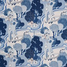 Exquisite blues decorator fabric by F Schumacher. Item 173065. Free shipping on F Schumacher designer fabric. Only first quality. Search thousands of fabric patterns. Width 53 . Swatches available.