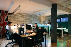 An element of the New York design features in this creative work environment. London W1, Co-working, 12,000 sq ft