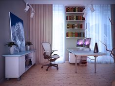 White Home Study Room