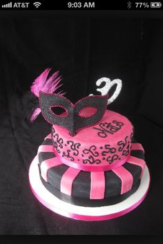 Masquerade cake different color