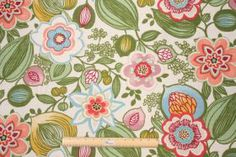 Floral/Vine Prints :: Galapagos - Madison in Carnival Printed Cotton Decorator Fabric by Mill Creek $14.95 per yard - Fabric Guru.com: Fabri...