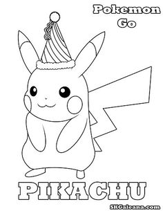 Free Pikachu Party Hat Printable Coloring Page