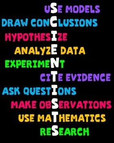 Science Classroom Poster - traits of good scientists - black background & white background options available!