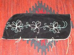 Vintage Native American Indian Black Floral Beaded Papoose Baby Carrier Native Beadwork, Pow Wow, Native American Indians, Beaded Flowers, Black Fabric, Beautiful Babies, Black Backgrounds, Applique, Iroquois