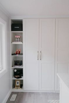 Ikea Pax Wardrobe Hack to create your dream closet! Ikea Pax Wardrobe Hack to create your dream closet! The post Ikea Pax Wardrobe Hack to create your dream closet! appeared first on Kleiderschrank ideen. Ikea Pax Closet, Ikea Pax Wardrobe, Closet Hacks, Wardrobe Doors, Bedroom Wardrobe, Closet Bedroom, Ikea Pax Doors, Ikea Bedroom Storage, Closet Ideas