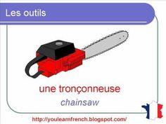 French Lesson 115 - Tools Vocabulary - Les outils Vocabulaire - Las herramientas Vocabulario