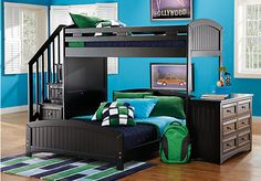 Shop for a Cottage Colors Black Twin Full Step Loft Bedroom at Rooms To Go Kids. Find  that will look great in your home and complement the rest of your furniture.