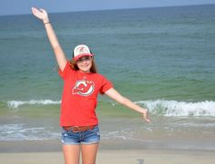 Twitter fan @JaneEliz17 shows her love for Jersey's Team at the beach. #IsItOctoberYet?