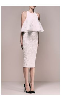 ALEX PERRY – PRE FALL 2015 – PREORDER HERE: http://www.precouture.com/en/6517-embossed-fanette-swing-top-eloise-pencil-skirt PRECOUTURE.COM is the first European website offering the possibility to preorder the looks straight from the runway. Order your looks now and wear them before anyone else, before it hits stores !