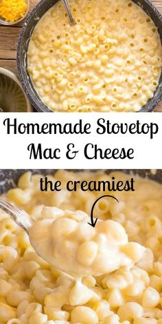 Homemade Stovetop Macaroni and Cheese, there's nothing like it. This delicious comfort food is a fast and easy double cheese creamy Macaroni Recipe and yes it's better than baked. - Homemade Stovetop Macaroni and Cheese Stovetop Mac And Cheese, Macaroni Cheese Recipes, Pasta Cheese, Creamy Macaroni And Cheese, Creamy Cheese, Homemade Macaroni Cheese, Cheesy Mac And Cheese, Creamiest Mac And Cheese, Japanese Recipes
