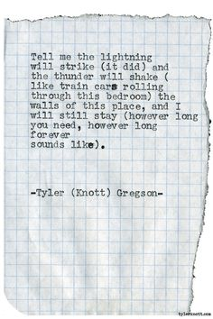 Typewriter Series #1924 by Tyler Knott Gregson Check out my Chasers of the Light Shop! chasersofthelight.com/shop