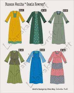 Gamis Muslim Fashion, Hijab Fashion, Fashion Dresses, Dress Design Sketches, Fashion Design Sketches, Baby Dress Patterns, Abaya Designs, Muslim Dress, Daily Dress