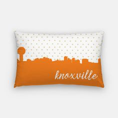 Knoxville Tennessee pillow  Knoxville skyline by PaperFinchDesign