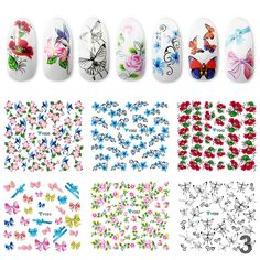20 Pcs Nail Art Decoration Water Sticker DIY Nail Art Sewing Accessories no.5 -- Learn more by visiting the image link. (Note:Amazon affiliate link)