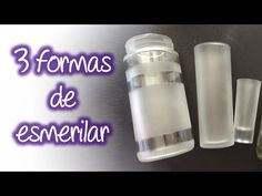 3 formas fáciles de esmerilado en cristal , Easy frosted glass - YouTube