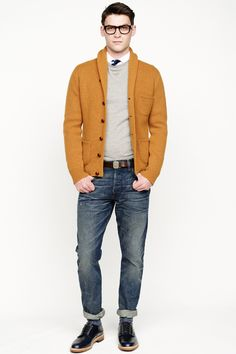If I saw a man wearing a yellow cardigan, I would follow him home.  I mean that in the creepiest way possible.