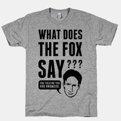 What Does The Fox Say? | HUMAN | T-Shirts, Tanks, Sweatshirts and Hoodies