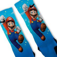 Super Mario Bros Custom Nike Elite Socks