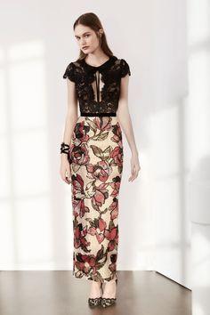 MARCHESA NOTTE BLACK FLORAL SEQUIN MIDI TEA DRESS. #marchesanotte #cloth #