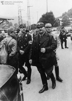 Ernst Röhm (1887-1934) was a former Reichswehr officer and had been a member of the NSDAP since 1920. He had supported Hitler in the Hitler-Ludendorff Putsch and was among the Führer's closest friends. In 1924, Hitler put Röhm in charge of the SA [Sturmabteilung or Storm Detachment], which had been originally conceived solely as a security service