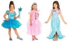 Groupon - Girls' Princess or Mermaid Costumes in [missing {{location}} value]. Groupon deal price: $26.99