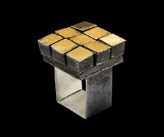 Ring: Mobile, 2015 Silver, yellow gold, niello patina x x cm Photo by: Paolo Terzi Wooden Jewelry, Metal Jewelry, Jewelry Art, Gold Jewelry, Jewelry Rings, Jewelry Design, Jewlery, Jewelry Ideas, Unusual Jewelry