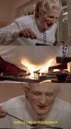 "So Mrs. Doubtfire is free to go on, terrorizing his family, setting their kitchen on fire… | ""Mrs. Doubtfire"" Is Actually The Most Horrifying Movie Of All Time"
