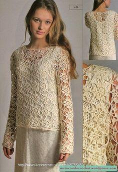Çok narin, çok güzel, çok kolay motifli dantel bluz modelleri yapımı hazırladık. Tam bahar ve yaz günlerine uygun modeller. Bu motifi belki biliyor olabilirsiniz. Dantel salon takımı modellerinde veya diğer örgü modellerinde kullanmış olabilirsiniz. Kolay ve zarif bir model. Tığ ile örülüyor. Nasıl yapıldığını