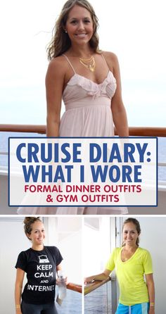 🔷🔷🔷 Get a cruise 🚢🚢🚢 for half price or even for free!🌎🌎🌎klick for more details.✔✔✔ Heres what to wear when its time to sweat it out or time to get fancy on a cruise. Cruise Wear, Cruise Vacation, Disney Cruise, Cruise Attire, Vacations, What I Wore, What To Wear, Cruise Packing Tips, Cruises 2018