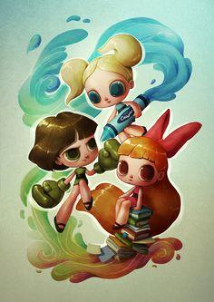 Powerpuff Girls (re-imagined) Art Print