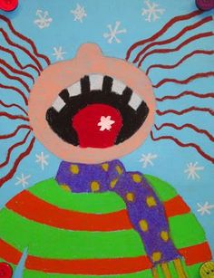 @Margaret Mary Monahan oh my these are so cute, MMM! Friday Art Feature - Catching Snowflakes