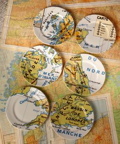 Set of Six Great Britain Map Plates, RE-foundobjects. Shop more from the RE-foundobjects collection online at Liberty.co.uk