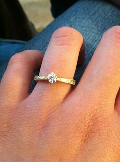 18K Yellow Gold True Heart Ring