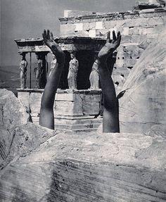Therese Duncan-Reaching Arms-The Parthenon 1921, Edward Steichen