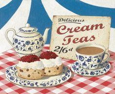 La barbe à papa: vintage cream tea ad