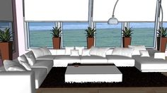 Large preview of 3D Model of sala para render