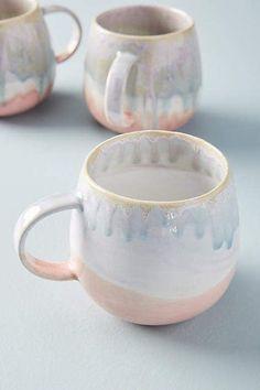 Adorable Mugs! Anthropologie Piet Mug #anthropologie #anthrofave #anthrohome #mugs #kitchen #pottery #ad