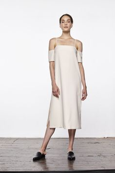 "It's Time To Start Building That ""Real Adult"" Wardrobe #refinery29  http://www.refinery29.com/2016/07/116936/updownacross-new-clothing-brand#slide-1  Forget all those sticky, wrinkly slip dresses you've tried to wear — this one puts them all to shame.Updownacross Crepe Cold Shoulder Slip Dress, $156, available at Updownacross...."