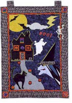 Halloween Doorhanging Quilt - Free PDF Pattern - sew-whats-new.com