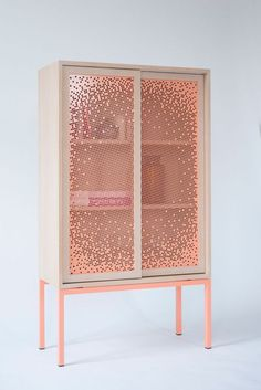 Mashrabeya Cabinet keeps your stuff half hidden | Design by Nina Mair Architecture + Design