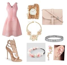 """Pink"" by vanessa-de-leon-rodriguez ❤ liked on Polyvore"