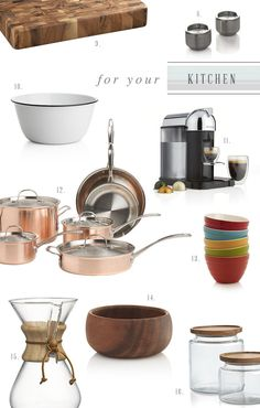 Crate and Barrel Kitchen Registry